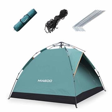 MIABOO Popup Zelt,Wurfzelt 3-4 Personen Wasserdichtes Pop up Zelt Ultraleicht mit Tragetasche für Camping - 2