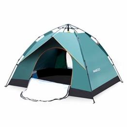 MIABOO Popup Zelt,Wurfzelt 3-4 Personen Wasserdichtes Pop up Zelt Ultraleicht mit Tragetasche für Camping - 1