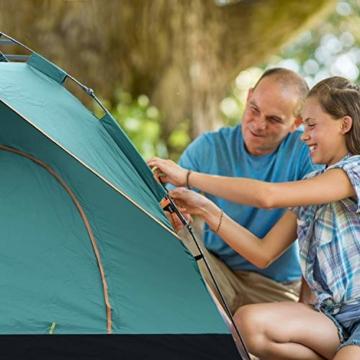 MIABOO Popup Zelt,Wurfzelt 3-4 Personen Wasserdichtes Pop up Zelt Ultraleicht mit Tragetasche für Camping - 5