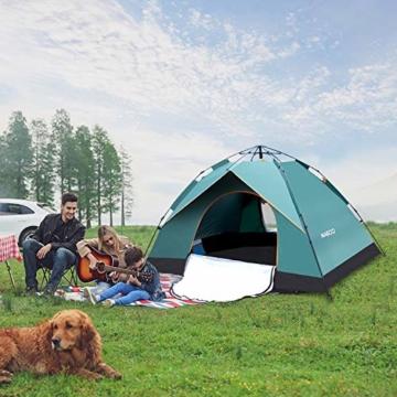 MIABOO Popup Zelt,Wurfzelt 3-4 Personen Wasserdichtes Pop up Zelt Ultraleicht mit Tragetasche für Camping - 6