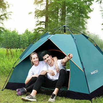 MIABOO Popup Zelt,Wurfzelt 3-4 Personen Wasserdichtes Pop up Zelt Ultraleicht mit Tragetasche für Camping - 7