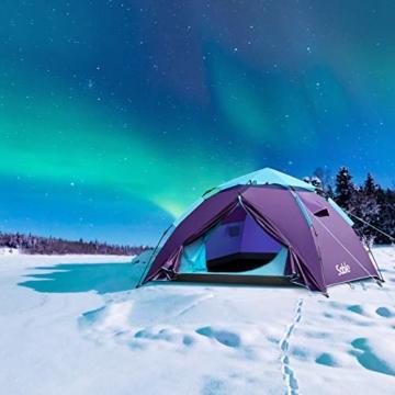 Sable Pop Up Zelt Wurfzelt Kuppelzelt 3 Personen Wasserdicht Zelt Outdoor Camping 210 x 190x 120 cm - 8