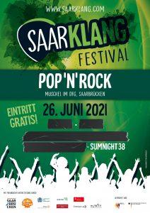 Saarklang Festival 2021 Haupttag (Rock/Pop)